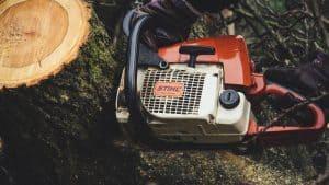 Stihl Saw Cutting Wood