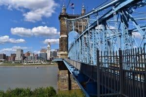 Cincinnati Ohio Roebling Bridge